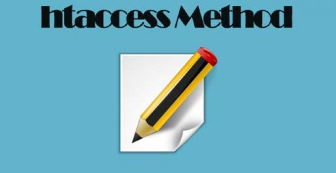 htaccess Method