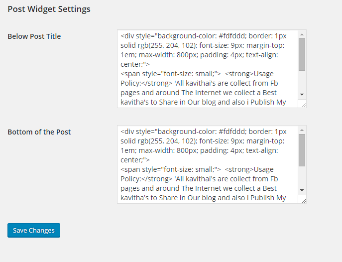 insert an HTML Widgets in WordPress Posts