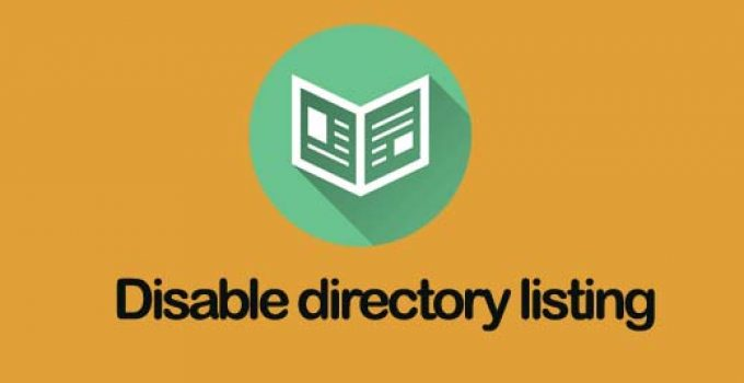 Disable directory listing