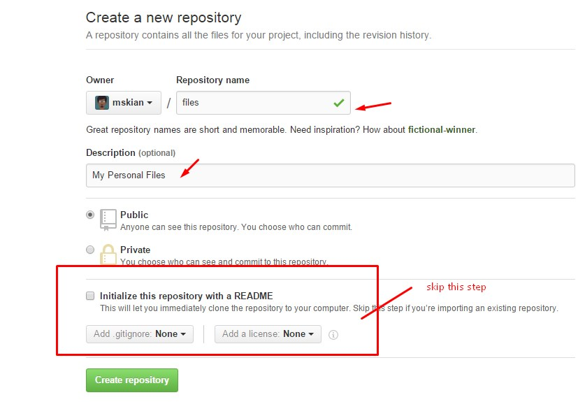 Host our personal Files on Github