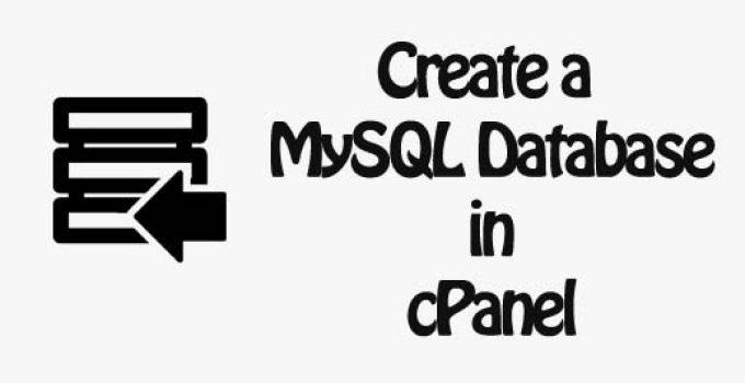Create a MySQL Database