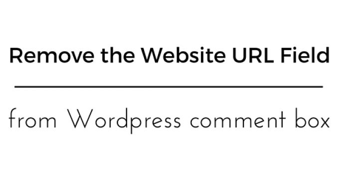 Remove the Website URL Field from Wordpress comment box