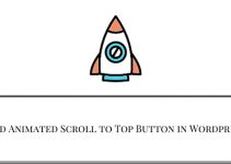 Add Animated Scroll to Top Button in Wordpress