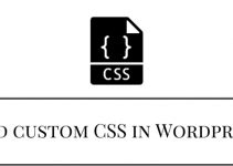 Add custom CSS in Wordpress