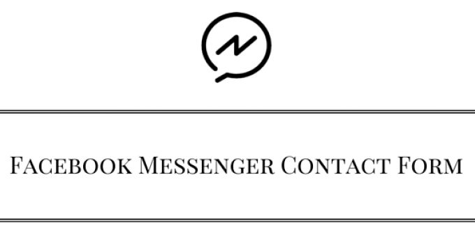 Facebook Messenger Contact Form