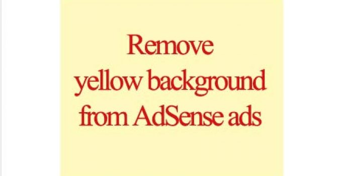 Remove yellow background from AdSense ads