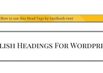 add the Stylish Headings in Wordpress without plugins