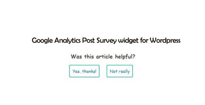 Google Analytics Post Survey widget