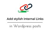 stylish Internal Links in Wordpress posts