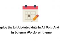 Show Last Updated Date in Schema Wordpress theme
