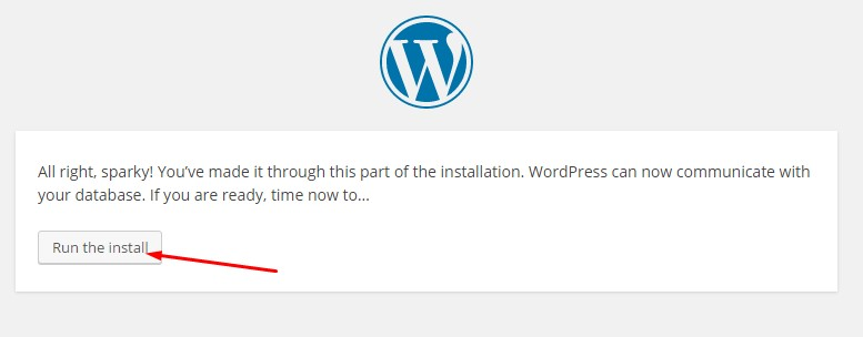 installing WordPress manually