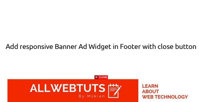 responsive Banner Ad Widget