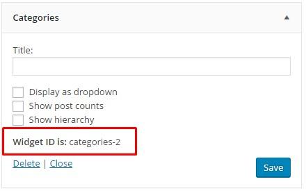 Find Widget ID in WordPress