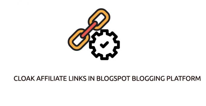 cloak affiliate links in BlogSpot