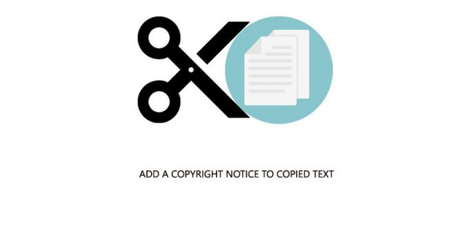 add a copyright notice to copied text in Wordpress