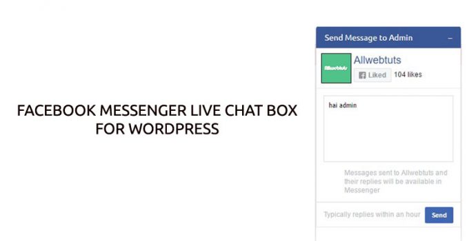 Facebook Messenger live chat box