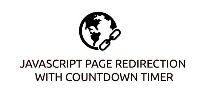 JavaScript page Redirection