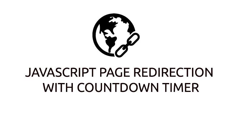 JavaScript page Redirection