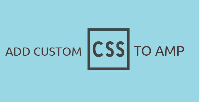 Add Custom CSS in Amp template on Wordpress