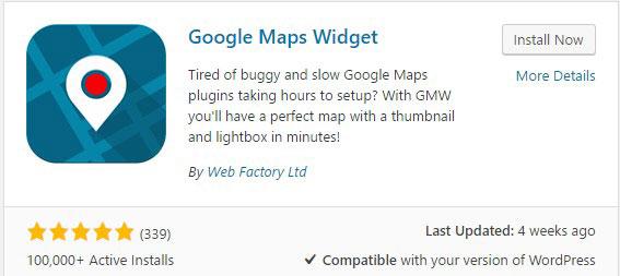 Google Maps Widget
