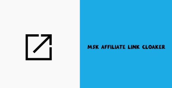 Msk Affiliate Link Cloaker