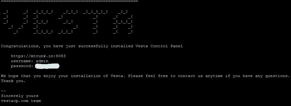 Install VestaCP on Digitalocean