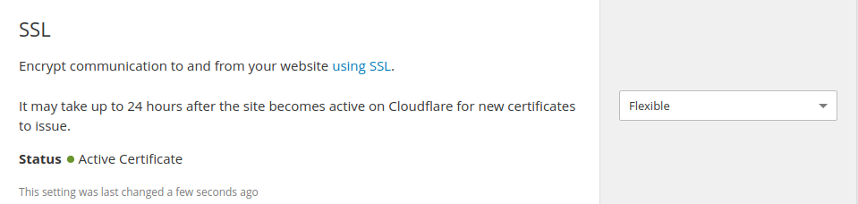 Free Cloudflare Flexible SSL
